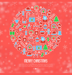 Christmas snow globe concept vector