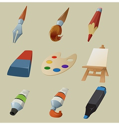 Collection of draw icons vector image