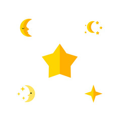 flat icon bedtime set of bedtime starlet star vector image