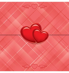 red card sealed with hearts vector image vector image