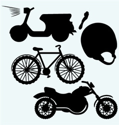 Two-wheeled vehicles vector image vector image