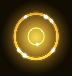Abstract background with gold circle vector image vector image