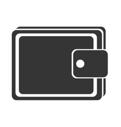 black and white man wallet graphic vector image