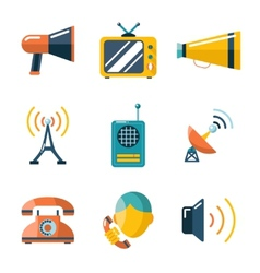 Flat communication business information media web vector image