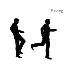 Man in running pose vector