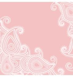 paisley pink vector image vector image