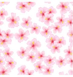 pink flower sakura seamless pattern japanese vector image