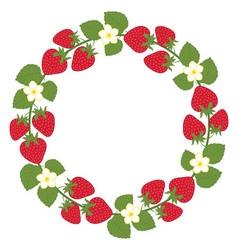 Strawberry Wreath vector image vector image