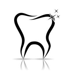 Tooth as a dental symbol vector