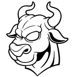 Bull outline vector image vector image