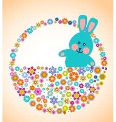 easter greeting card with bunny vector image