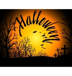 Halloween Bloody Text Background vector image