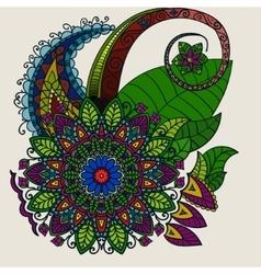 Hand drawn Mandala circular colored pattern for vector image vector image