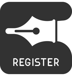 Register icon vector