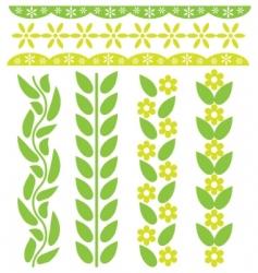spring floral decor vector image