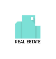 Abstract mint real estate logo vector