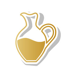 amphora sign golden gradient icon with vector image