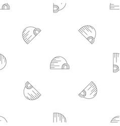 arctic igloo pattern seamless vector image