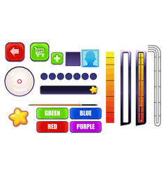 billiard pool mobile game gui set - assets vector image