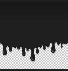 Black dripping slime seamless element vector