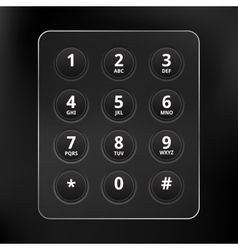 black phone keyboard vector image