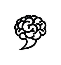 Brain cloud logo template vector