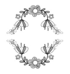 branches with beauty flowers icon vector image