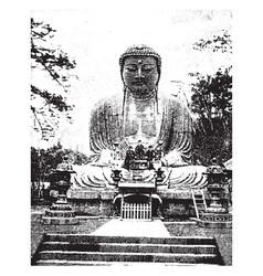 Buddha vintage vector