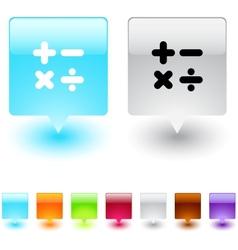 Calculate square button vector