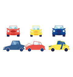 cars set isolated on white background different vector image