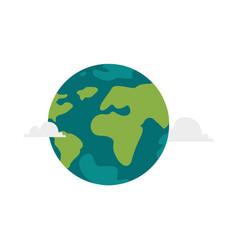 Cartoon flat globe isolated vector