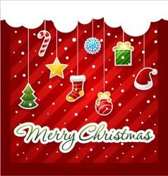 Christmas Greeting Card christmas items icons vector image