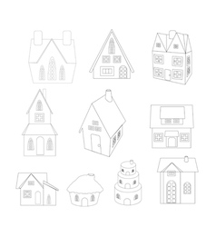christmas house sketches vector image