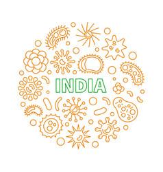 Coronavirus in india round 2019-ncov vector