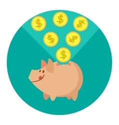 cute pig vector image