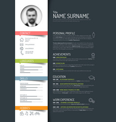 Cv resume template vector