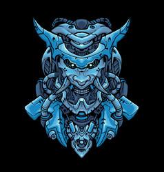 cyber oni head vector image