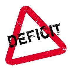 Deficit rubber stamp vector