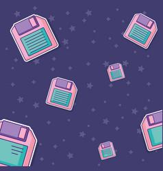 Diskette background design vector