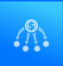 diversification diversified portfolio split vector image