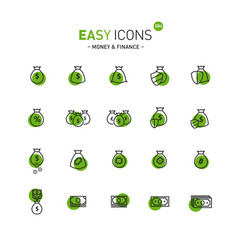 easy icons 08d money vector image