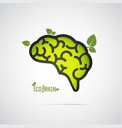 eco brain abstract icon vector image