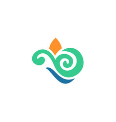 eco curl ornament logo vector image