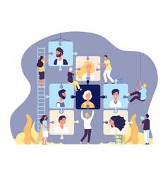 Employment agency concept online recruitment vector
