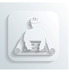 engineer for the project icon vector image