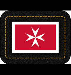 Flag of malta version with maltese cross icon vector