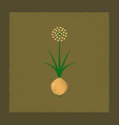 Flat shading style plant allium vector