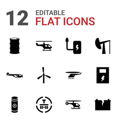 fuel icons vector image