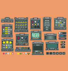 Game gui 46 vector