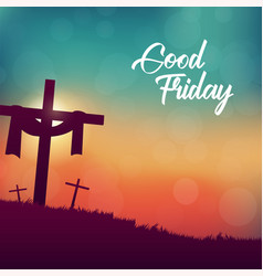 Good friday for christian religious with cross vector